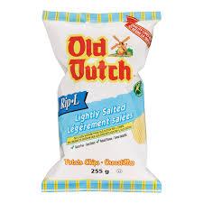 Ripple Chips Old Dutch Rip L Lightly Salted Gluten Free Potato Chips Walmart