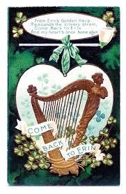 vintage st patricks day clip art golden harp the graphics fairy