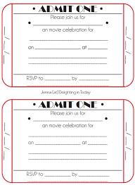 ticket stub invitation template best 25 free birthday invitation