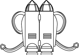 individual jet pack black white line art coloring book christmas