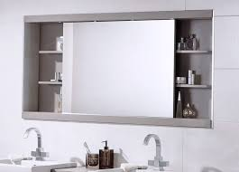 Contemporary Bathroom Mirrors by Contemporary Bathroom Mirror With Cabinets And Toiletries Bathroom