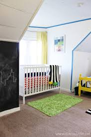 modern superhero boys room