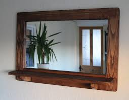 industrial style mirror with shelf vanity decoration
