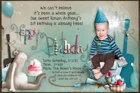 template simple first birthday invitation wordings for baby boy