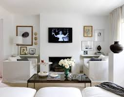 Industrial Look Living Room by White Living Room With Tv On Wall Industrial Style Living Room