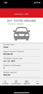 toyota financial desktop mytfs toyota financial on the app store