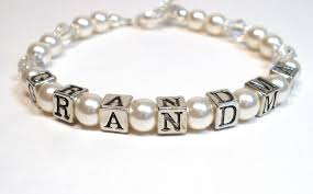 grandmother gift pearl bracelet personalized jewelry mothers day flickr