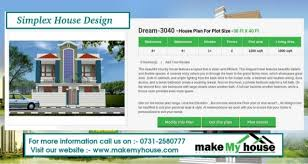 my house plan simplex house design by make my house