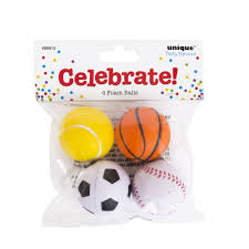 party favours unique foam balls party favours 4pk at wilko