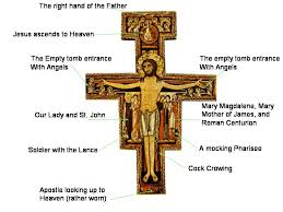 san damiano crucifix san damiano cross just who are those figures