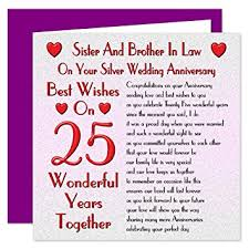 25 wedding anniversary in 25th wedding anniversary card on your