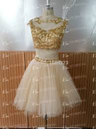 com buy new fashion women wear cocktail dress real picture gold