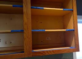 liquid sandpaper kitchen cabinets how to refinish kitchen cabinets part 1 frugalwoods