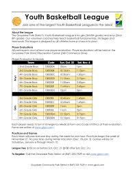 grayslake community park district youth basketball league tryouts