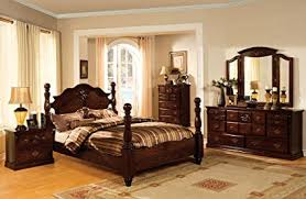 amazon com 4pc solid pine queen size bed complete amazon com 5 pc tuscan ii dark pine finish wood queen bedroom set