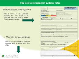 Incident Investigation Report Template by Contractor Name Lti Date Of Incident 1 Hse Investigation