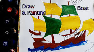 how to draw a boat arts and crafts for kids teach drawing to
