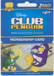 club penguin gift card buy club penguin 1 month membership card 4 95 free uk
