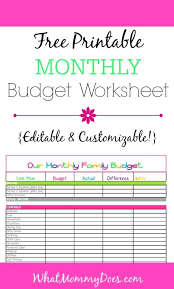 Monthly Budget Sheet Template Free Monthly Budget Template Design In Excel Worksheets