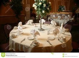 Setting A Table by Table Setting Before A Wedding Stock Photo Image 86440