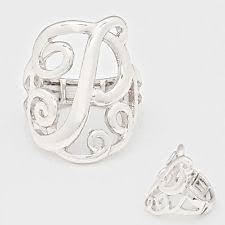 Monogram Initial Ring Initial Ring In Radio Television U0026 Telephony Ebay