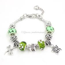 murano glass beads bracelet silver images Diy green lampwork murano glass bead bracelet jewelry spring jpg