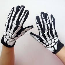Halloween Skeleton Costume Halloween Skeleton Gloves Foaming Skeleton Costume Party Supplies