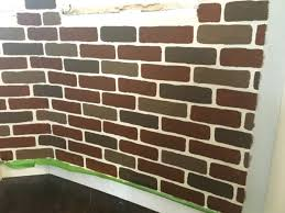 How To Paint A Faux Brick Wall - how to diy a faux brick wall the easy way hometalk