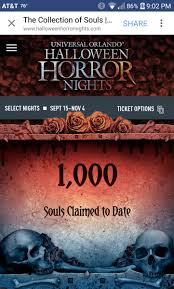 halloween horror nights ticket heather bedor otowngrrl twitter