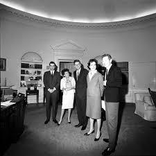president john f kennedy meets with danny kaye judy garland