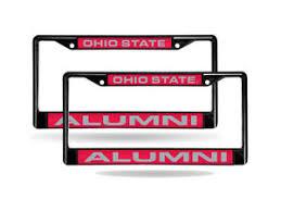 ohio alumni license plate frame ohio state osu buckeyes alumni black metal 2 laser cut license
