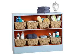 how to update a bookcase for bathroom storage hgtv