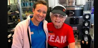94 year old woman has dedicated 44 years of her life to mcdonald u0027s