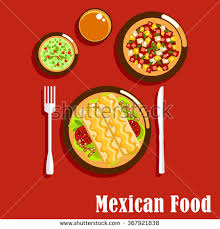 cuisine spicy spicy cuisine food icons enchiladas เวกเตอร สต อก 367921838