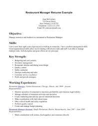 Sample Resume Objectives Bartender by Resume Server Resume Description