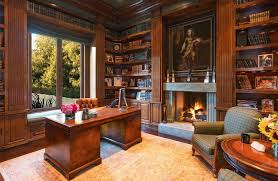 bureau massif moderne decoration bibliotheque moderne bois massif cheminee