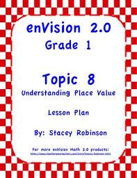 envision math 2 0 topic 8 grade 1 lesson plan envision math