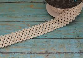 crochet elastic ribbon ivory elastic waffle crochet ribbon 2 yards x 1 5 inches for