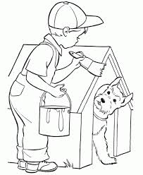 dog house coloring pages az coloring pages coloring home