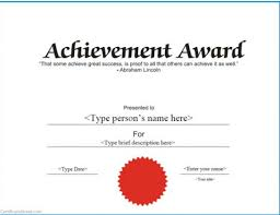 professional and formal certificate of achievement vector template