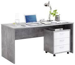 Schreibtisch Auf Rollen Schreibtisch Brick Beton Optik U0026 9654 Online Bei Poco Kaufen