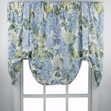 hydrangea tie up valance ellis curtain curtainshop com