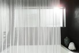 Metal Coil Drapery How Mesh High End Shower Curtains Improve Your Bathroom