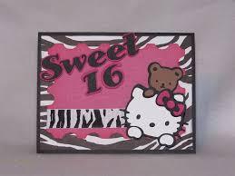 Hello Kitty Invitation Cards The Crafty Mermaid Hello Kitty Sweet 16 Invitation