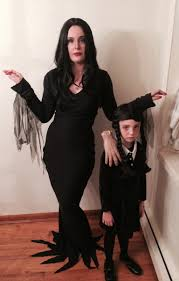 Morticia Addams Halloween Costumes Morticia Wednesday Addams Halloween 2013 Handmade