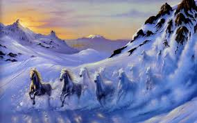 Blog 187 Blog Archive 187 by Horses Wallpapers Blog Archive Horses Fantasy Snow Mountain