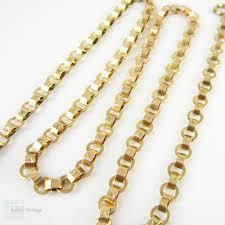 vintage gold chain necklace images Antique gold chain necklace 9 carat gold fancy flat engraved link jpg