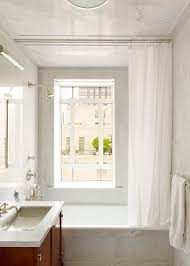 Free Standing Bathroom Vanity by New York Modern Window Curtains Bathroom Traditional With White