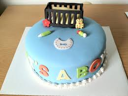 simple baby shower cake boy 54126 zsource
