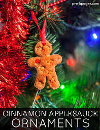 no cook cinnamon applesauce ornaments pre k pages